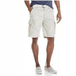 UNIONBAY Survivor Cargo Shorts Stone Cotton SZ 38